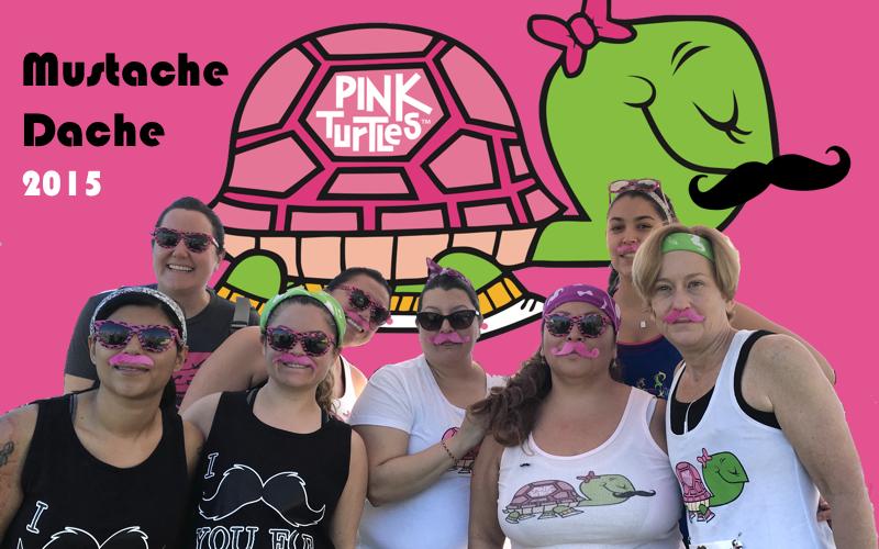 pink turtles mustache dache