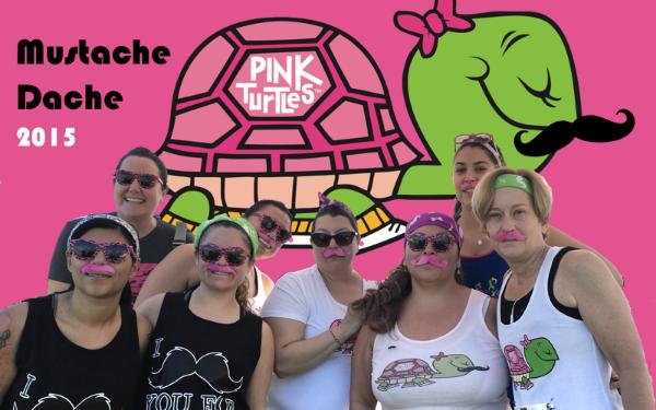 Pink Turtles Mustache Dasche Race