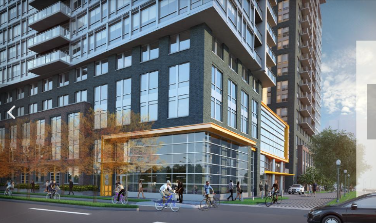 The Altaire will feature a large amenity space between its two residential towers, one featuring condos and the other, apartments. Photo courtesy of the Washington Business Journal.