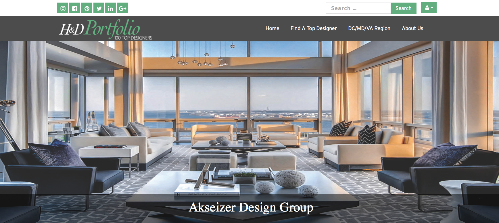 Adg Featured As One Of H D Portfolio S Top Interior Design Firms Adg Akseizer Design Group Interiors Architecture Branding Dc Ny