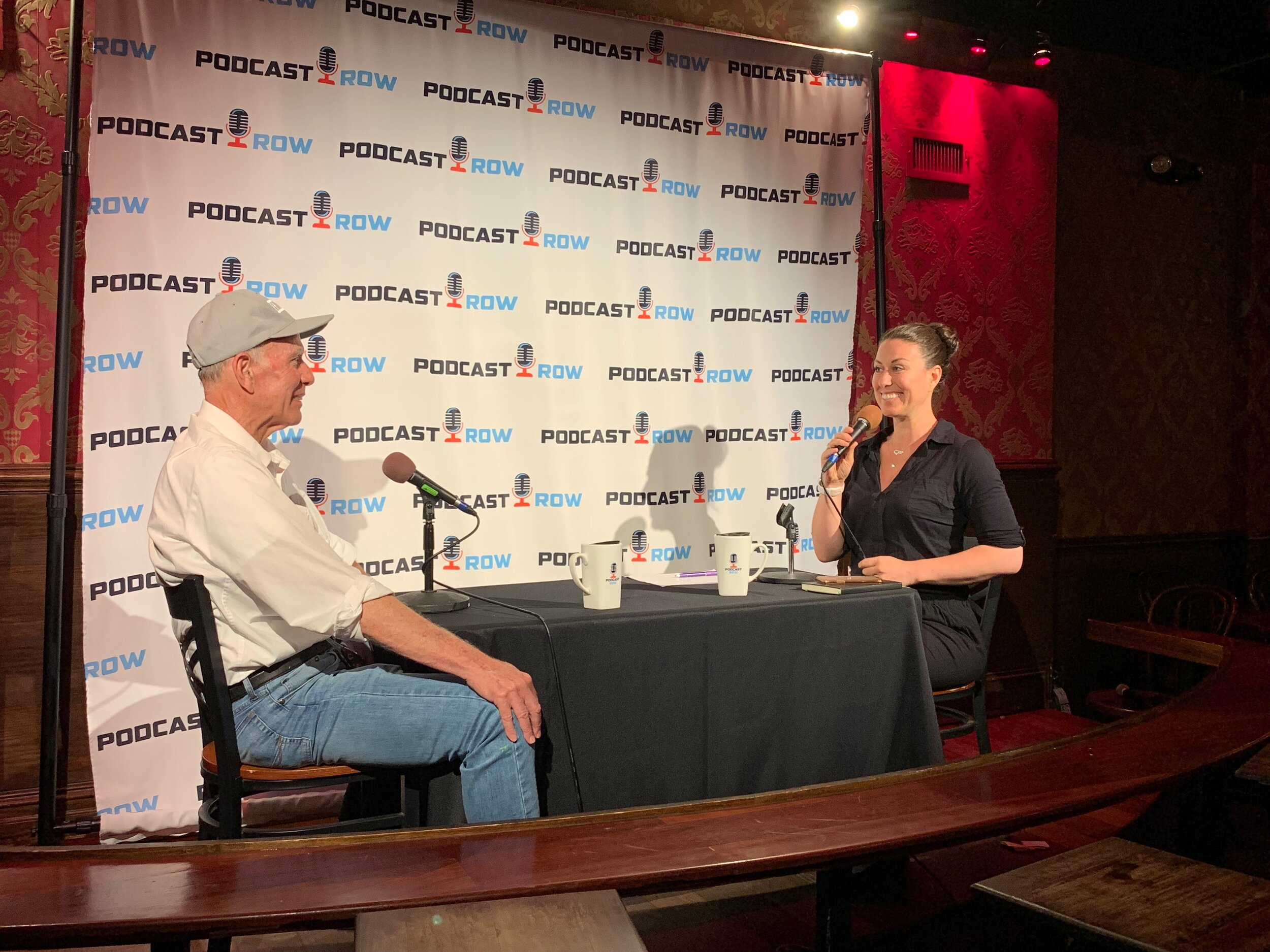 Jim and Jenny Blake at Podcast Row, Stand-up NY in New York City
