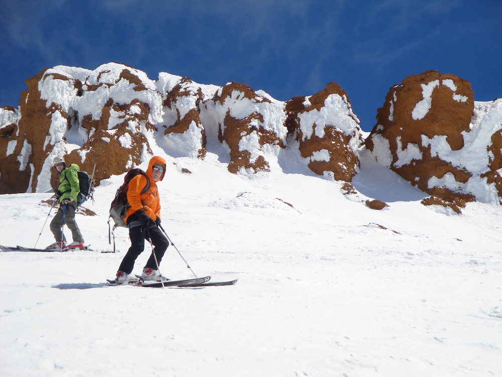 Skiing near the Red Banks