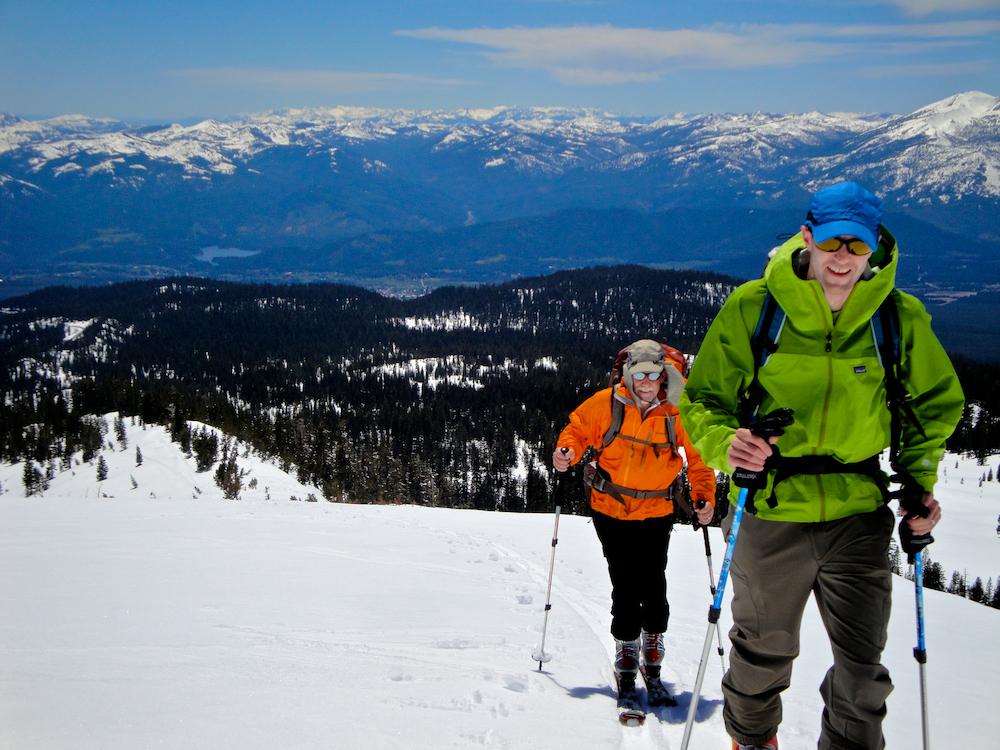 Skinning the lower slopes of Mount Shasta