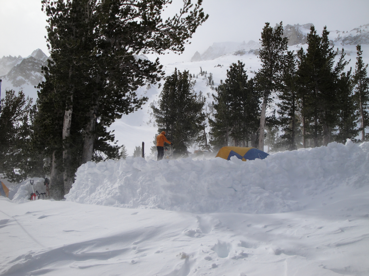 Backcountry ski camp in the Sawtooth Ridge
