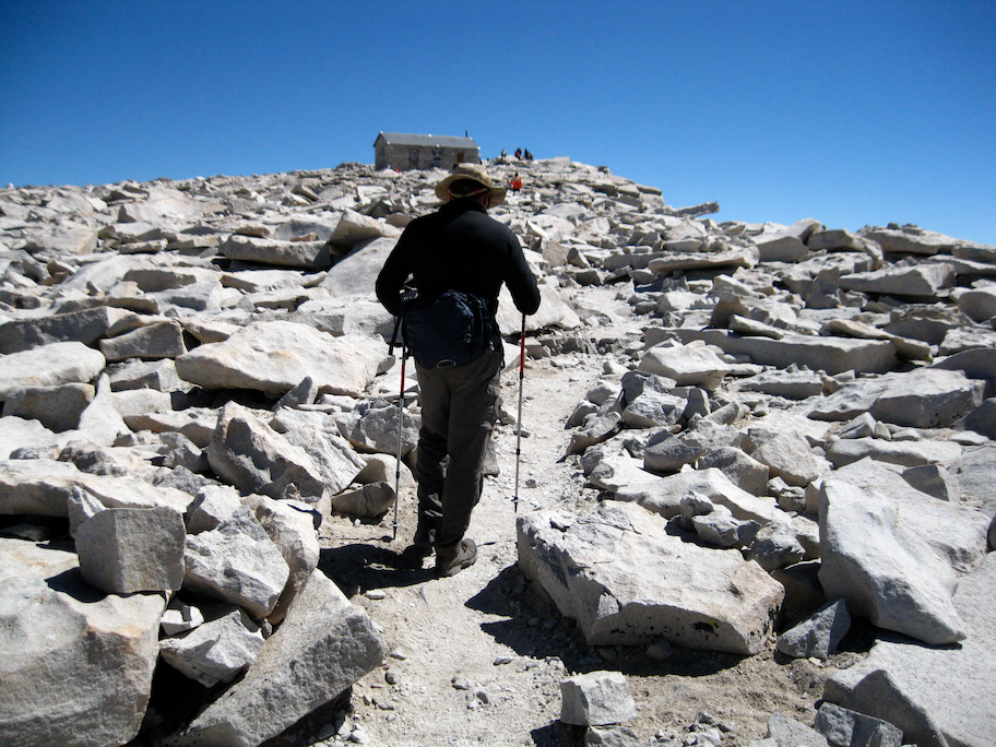 Approaching the summit of Mount Whitney
