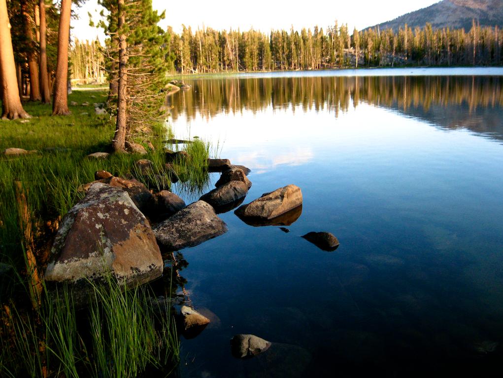 A remote mountain lake