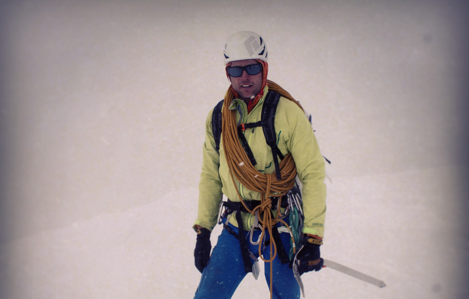 Jed while alpine guiding