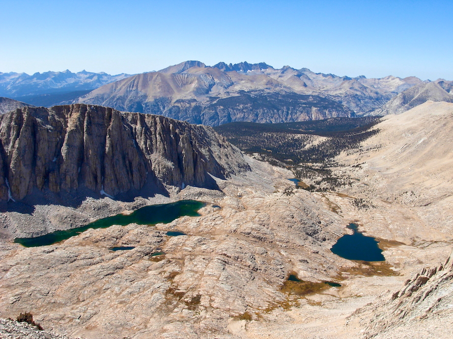 View of Guitar Lake from high on Mount Whitney