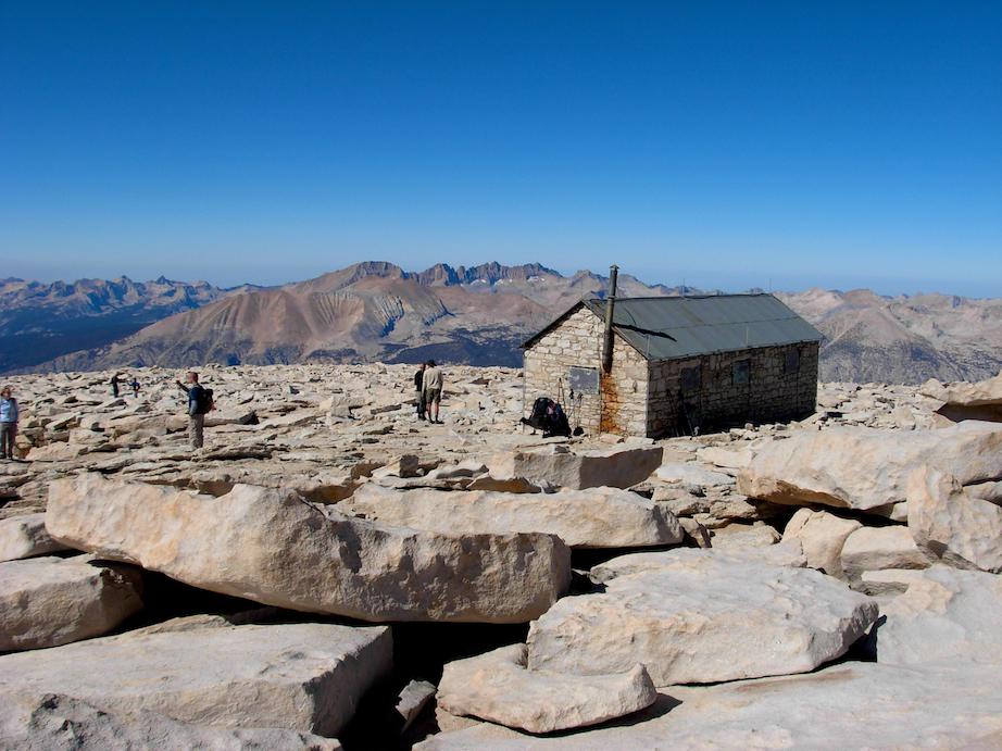The hut on the summit of Mount Whitney