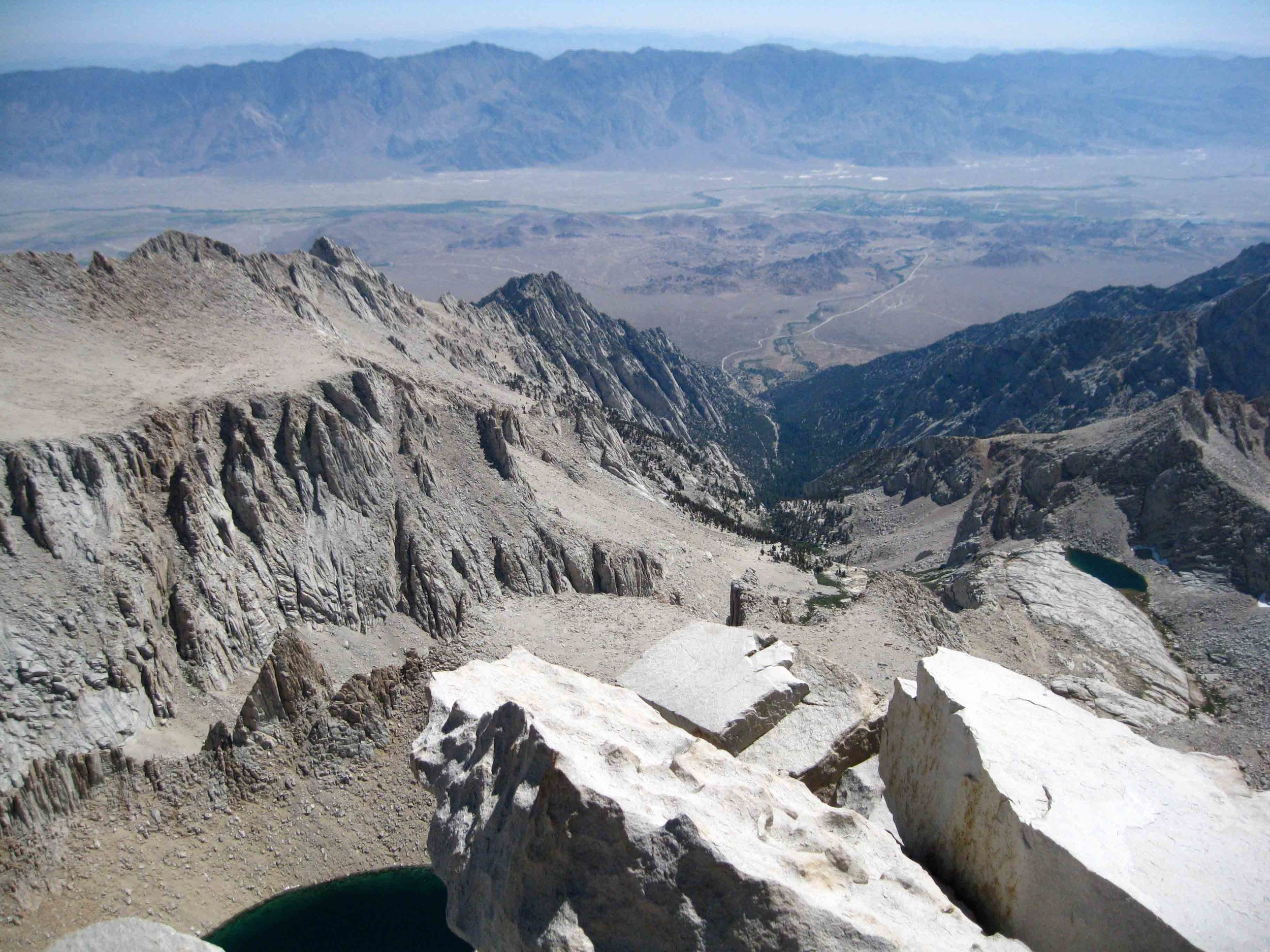 The view looking East from the top of Mount Whitney!