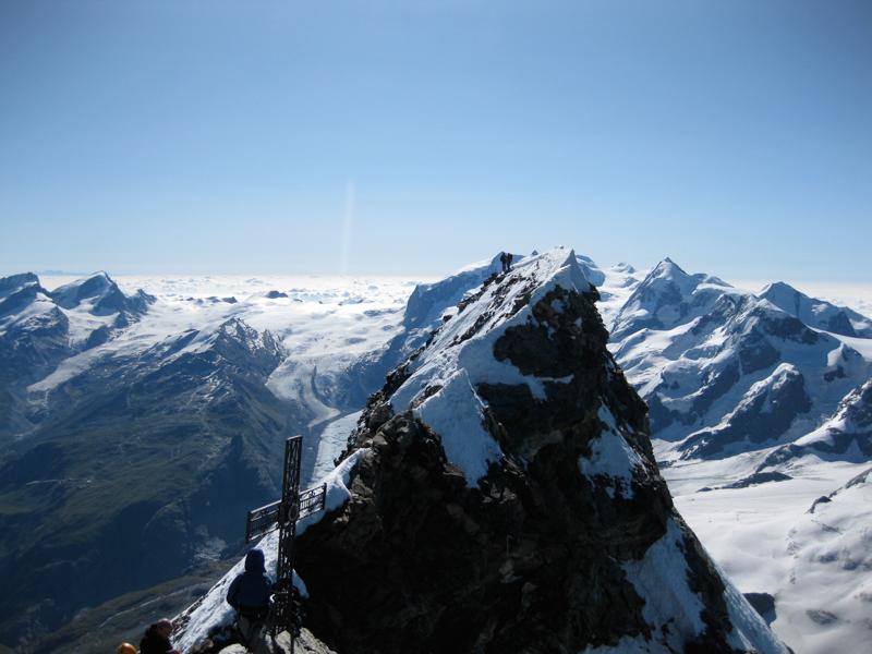 The summit of the Matterhorn