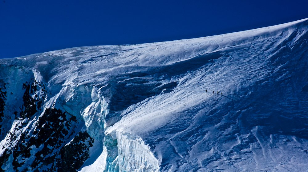 Ascending the spectacular Serpentine Glacier