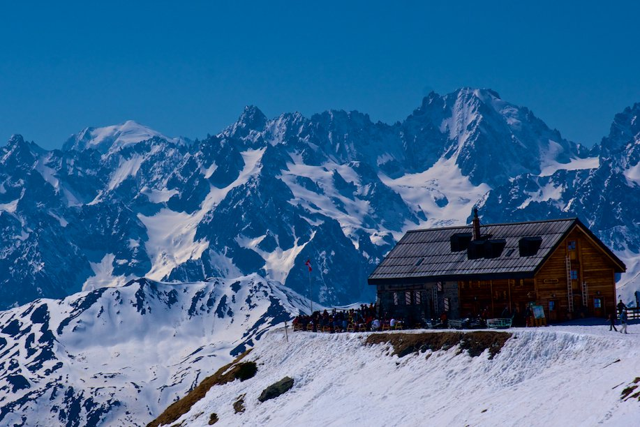 The Mont Fort hut in Verbier