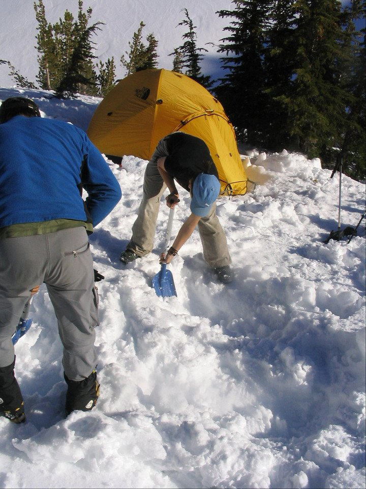 Making a winter camp