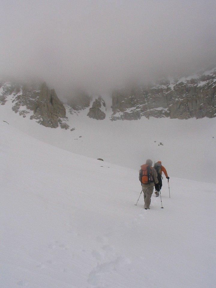 Climbing towards Matterhorn Peak