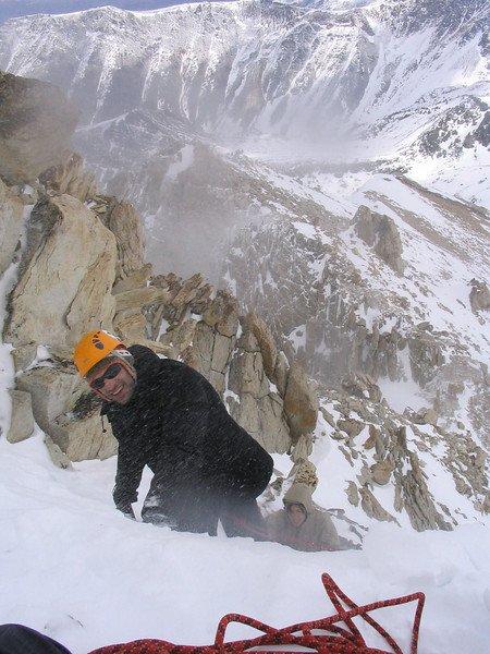 Climbing Matterhorn Peak in winter