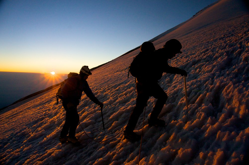 Sunrise while climbing Orizaba