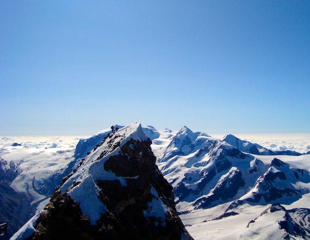 Climbers on the summit of the Matterhorn
