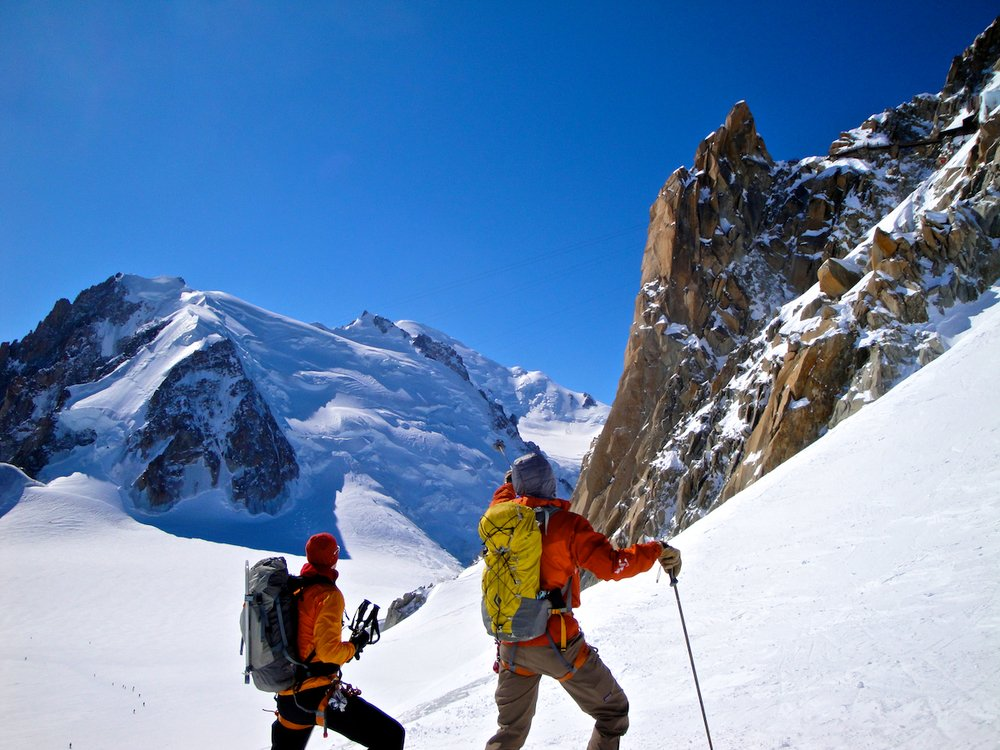 Skiing The Aiguille du Midi in Chamonix