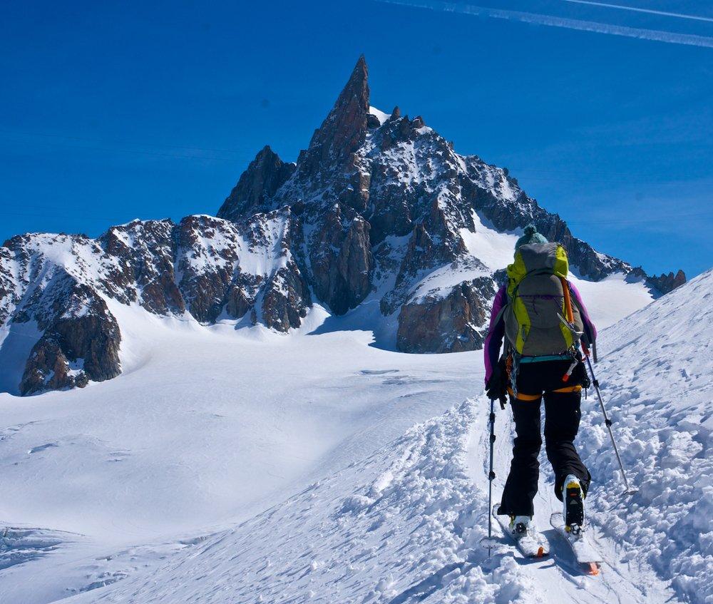 Skiing in Chamonix