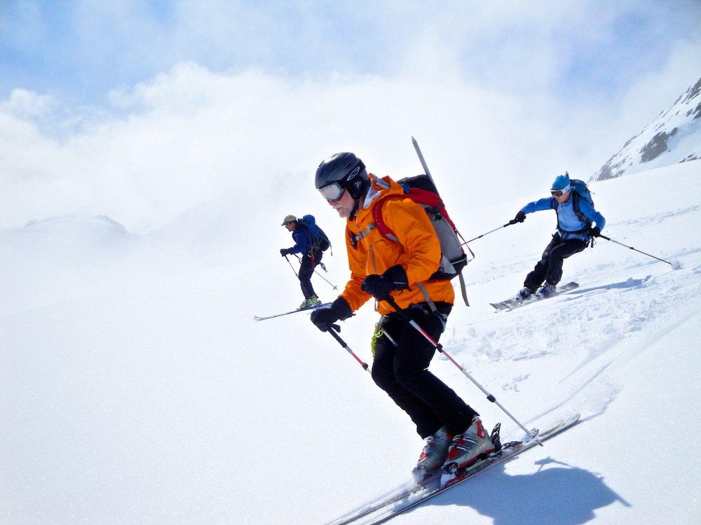 Skiing in Valdez