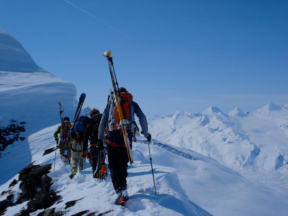 Ski mountaineering in Valdez