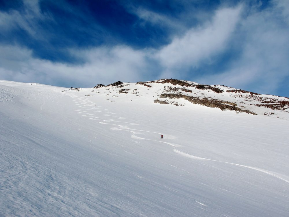 Skiing the Chile volcanoes