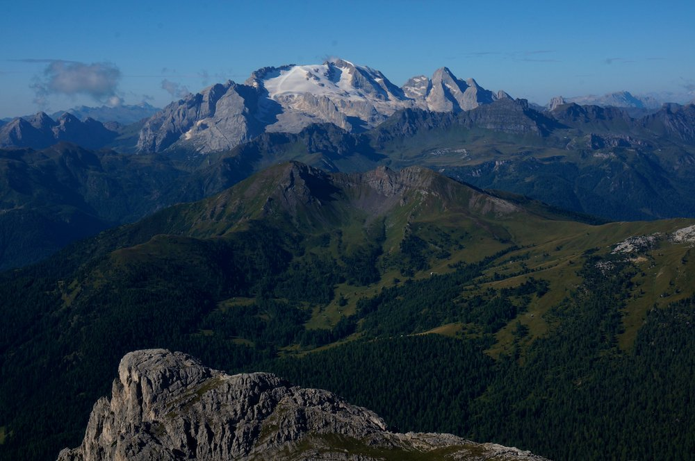 A view of Marmolada along the Alta Via One