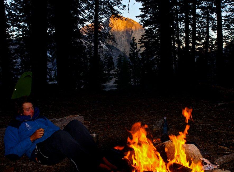 Campfire in Yosemite