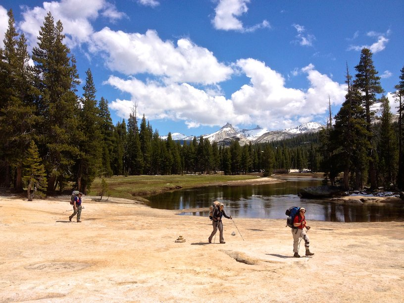 Hiking along the Tuolumne River