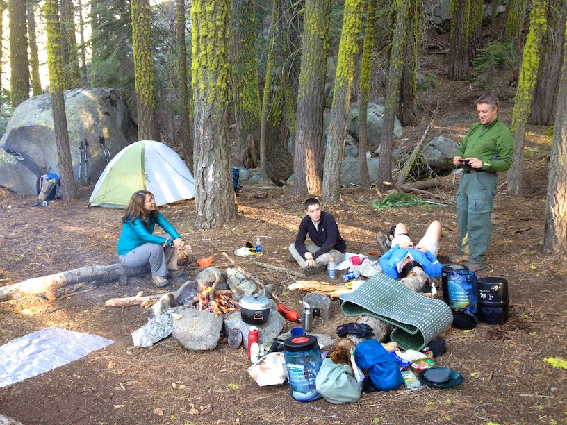 Yosemite wilderness camp