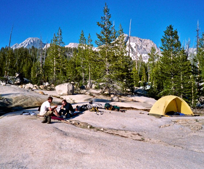 Yosemite backcountry camp