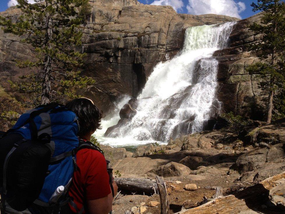 Yosemite high country waterfall