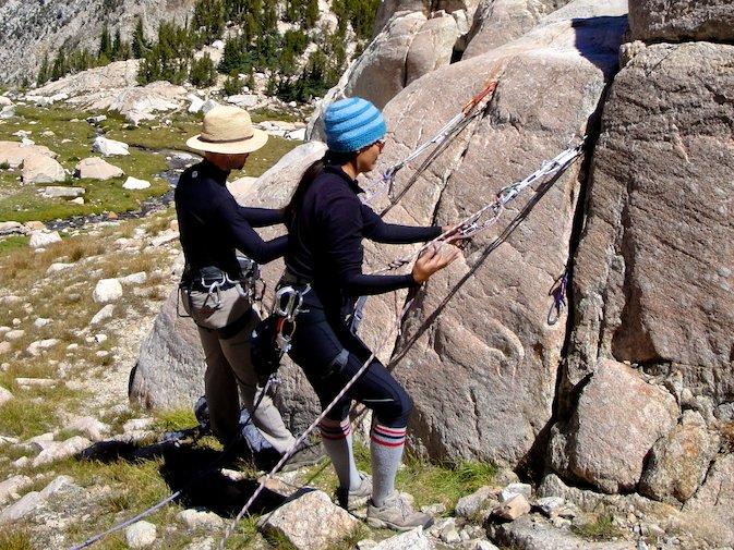 Learning rock climbing anchors