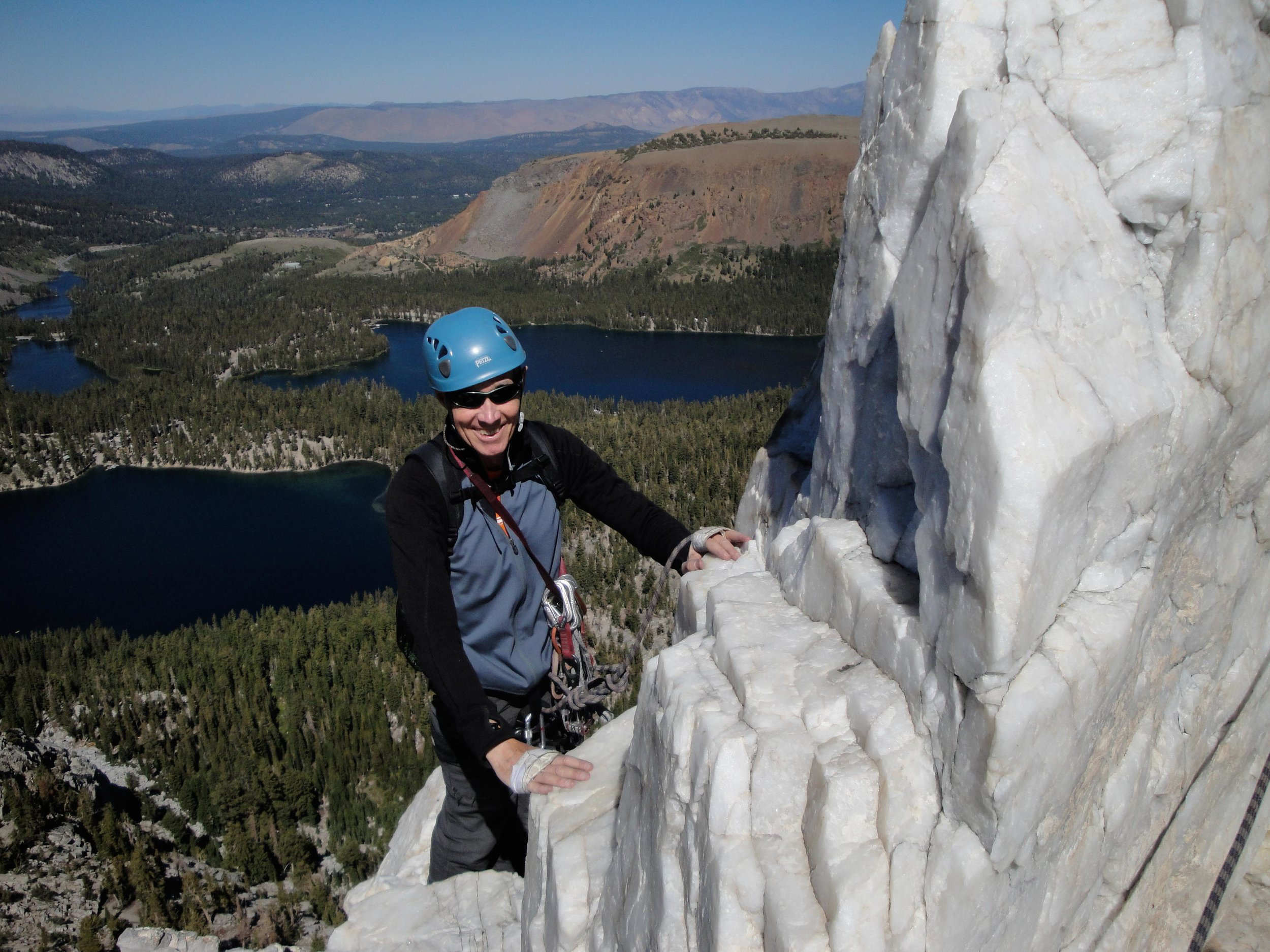 Climbing above Mammoth Lakes