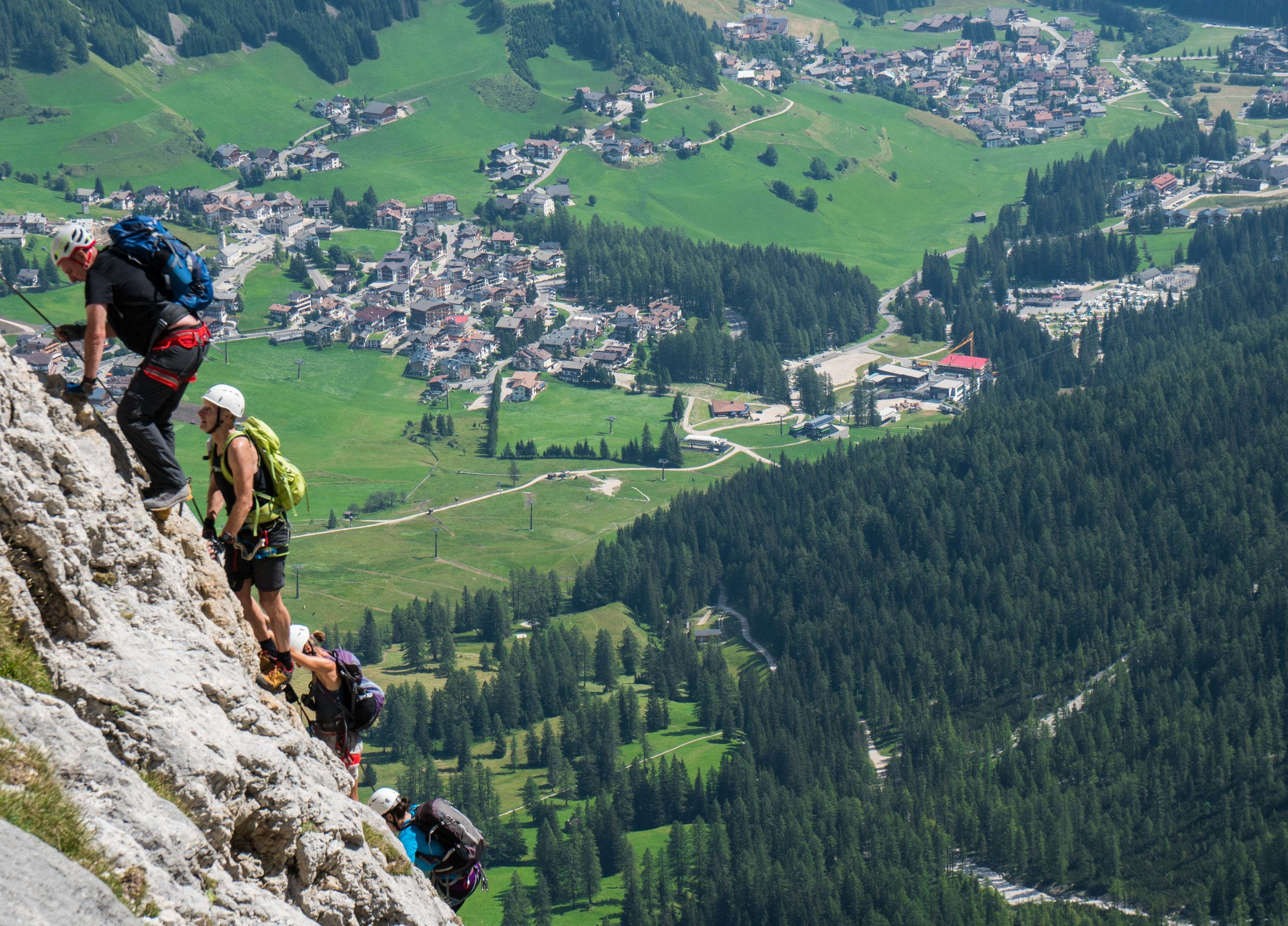 High above corvara in the dolomites