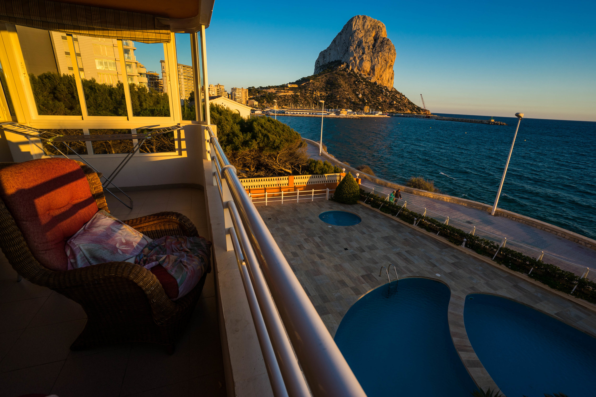 The view from a surprisingly affordable vacation rental in Calpe