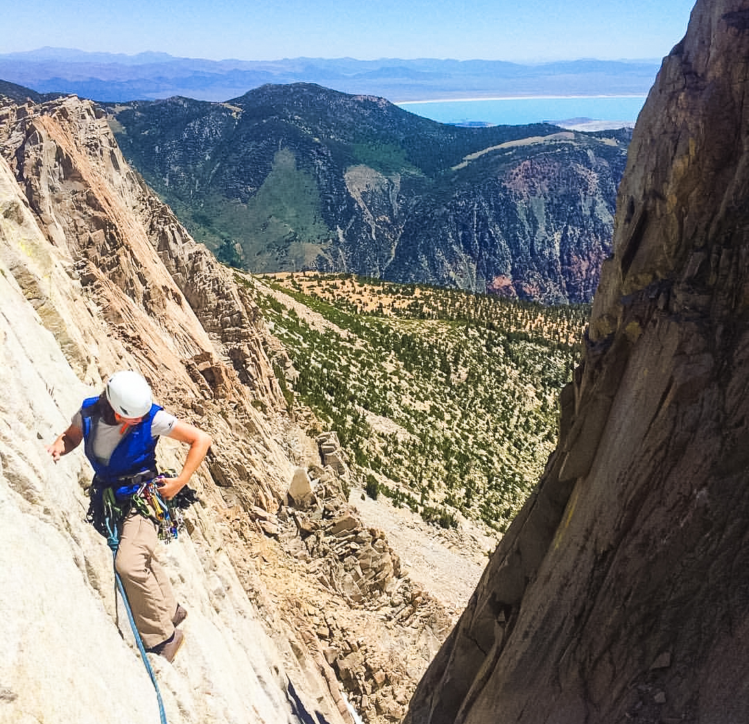 Anouk Climbing in the eastern sierra