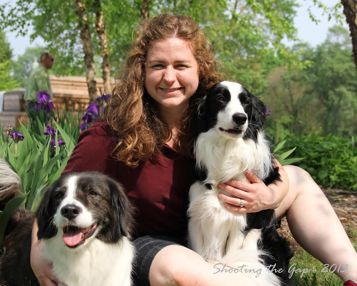 This is a photo of Dr. Woodside and her dogs Rory and Teigh from an event in Morris in 2012.  Thank you to Shooting the Gap Photography for the awesome photo!!