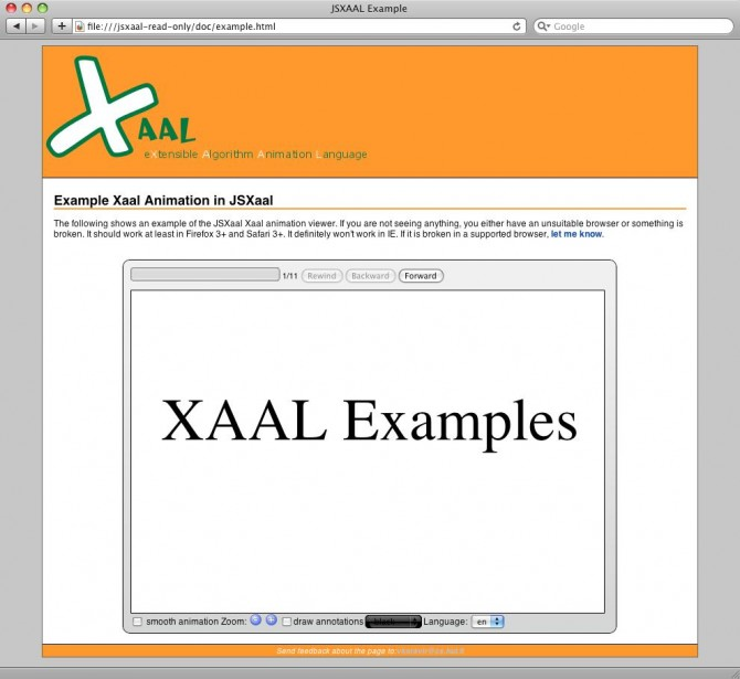 JSXaal Viewer Example