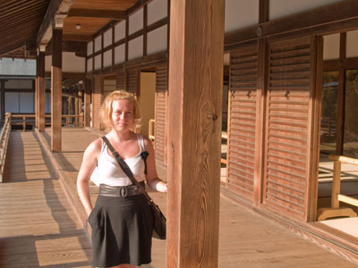 Linda in Tenryu-ji Temple