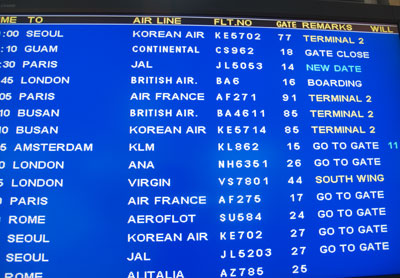 Flight was cancelled -> new date :(