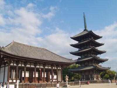 Famous Five-Storey Pagoda in Nara