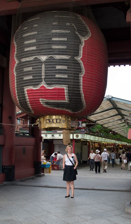 Kaksi palloa - Kaminarimon Gate, Asakusa