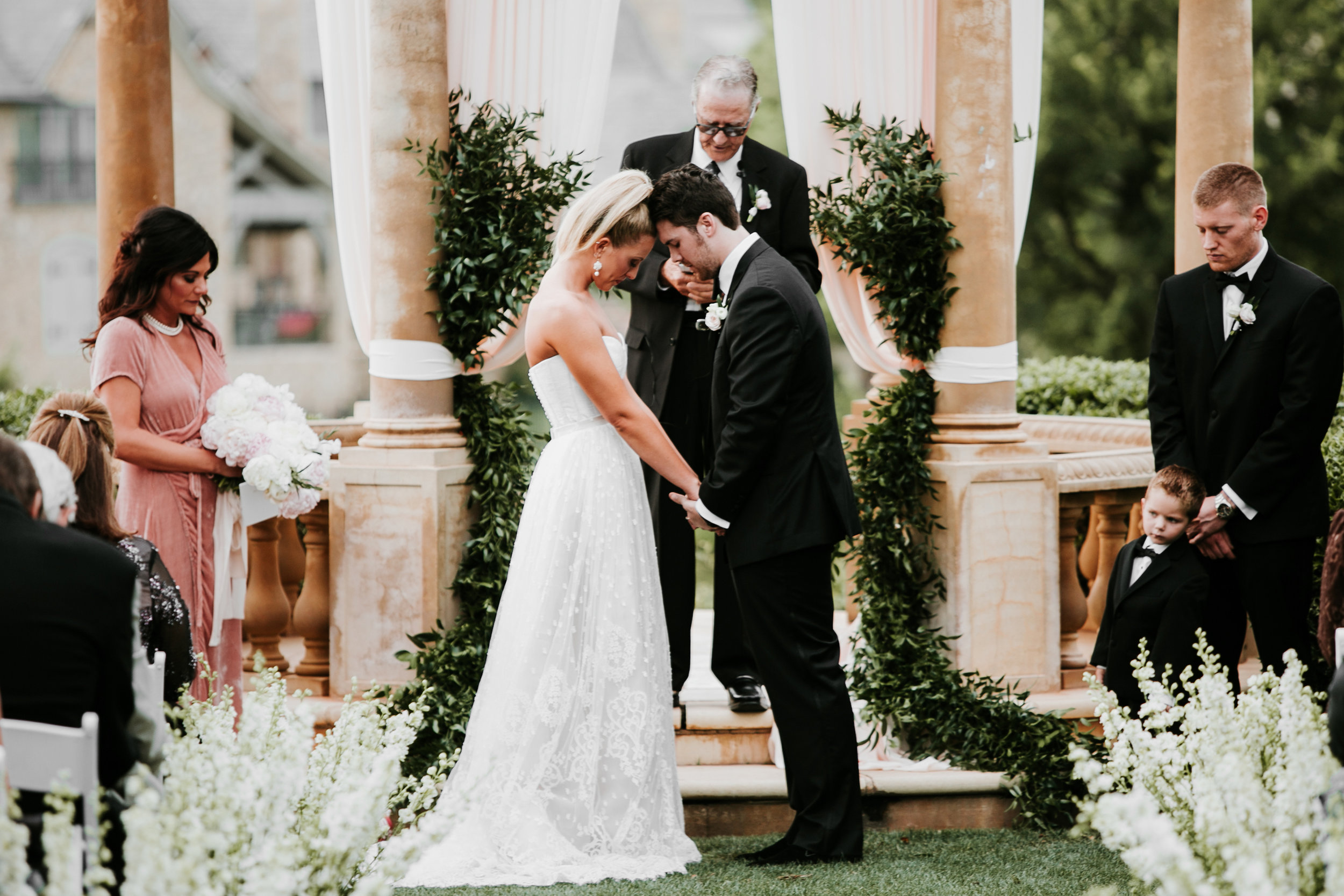 Photography/Videography by CHOATE HOUSE, Flowers by XO, Tabletop Rentals and Design by Fete, Chargers/Tables/Draping by Mood Party Rentals, Cake by Andrea Howard Cakes, Venue - Gaillardia Country Club