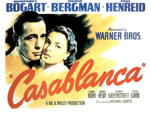 casablanca long poster