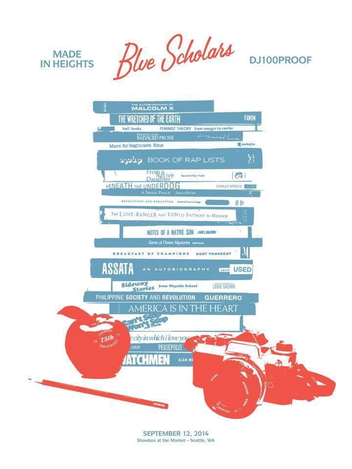 Blue Scholars Screenprinted Poster