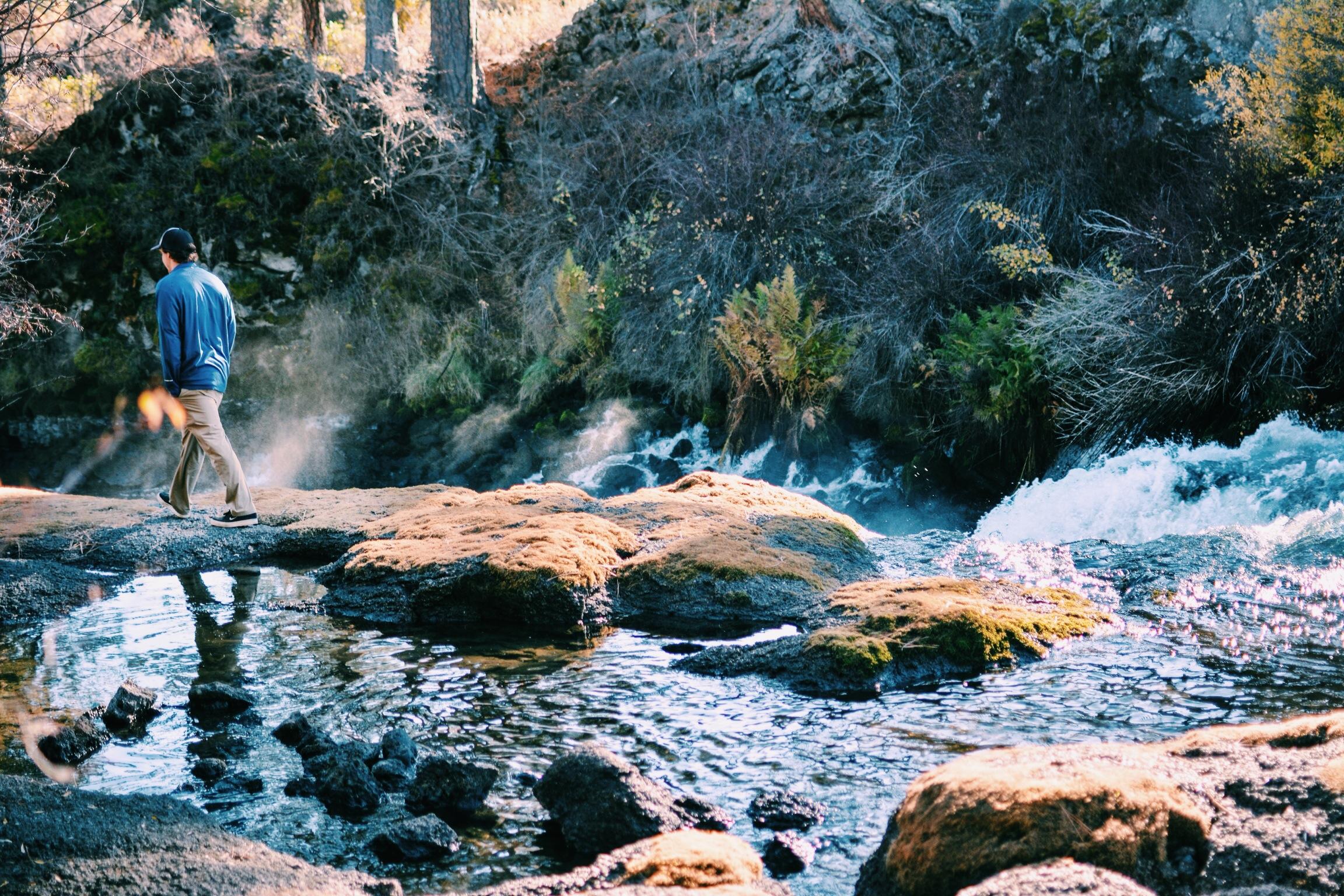 Scott in the falls of bend