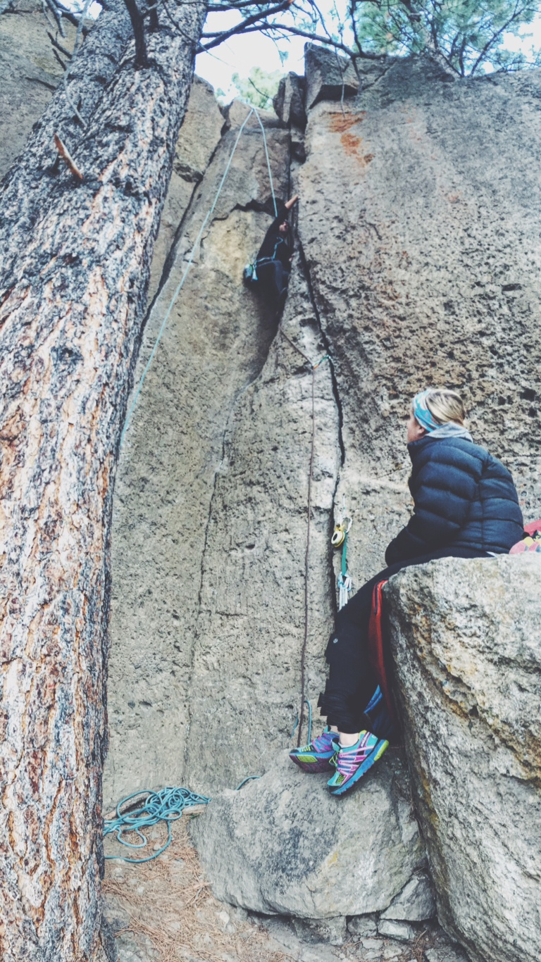spending time climbing