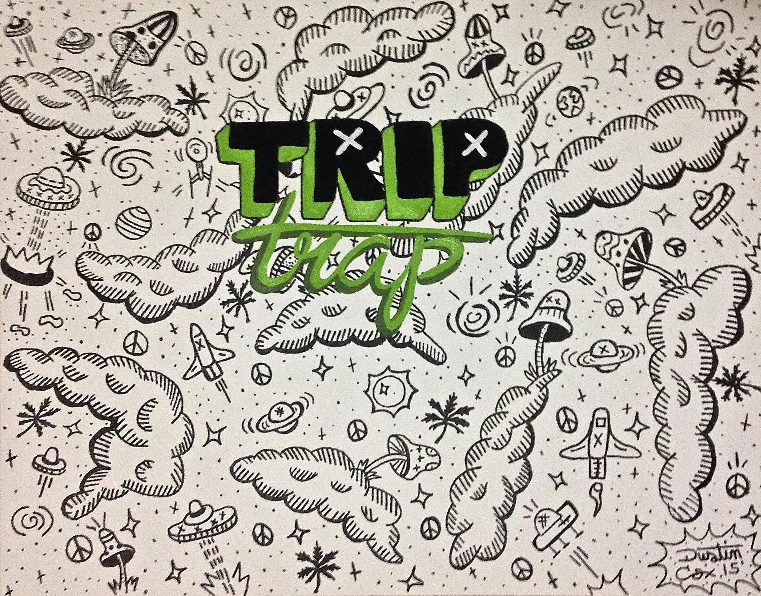 """Trip Trap 24"""" x 48"""" (2014)"""